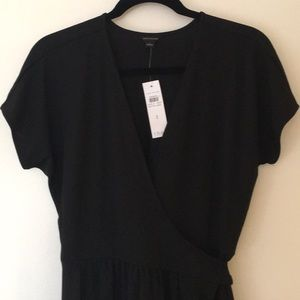Black Ann Taylor wrap dress new with tags